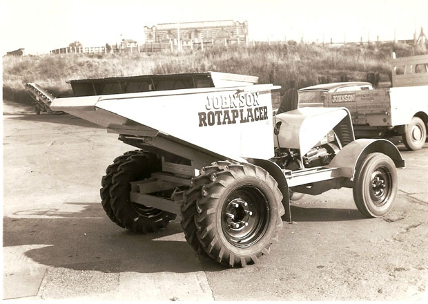 Johnson Rotaplacer with twin wheels