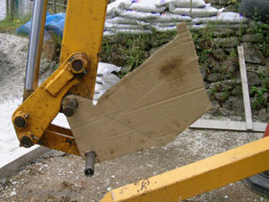 Template on the digger