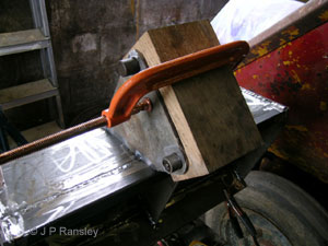 Tack welding the brackets