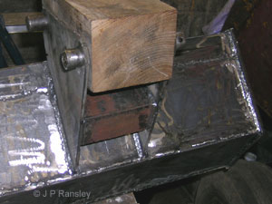 Welding the brackets on fully