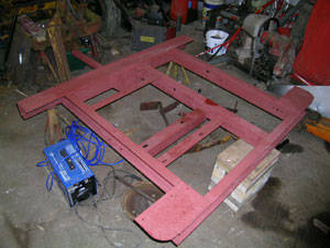 Chassis with a coat of red oxide