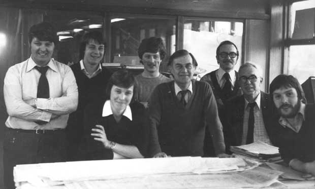Drawing office staff 1979