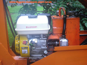 Loncin petrol engine fitted to replace Honda on Powerfab 125w digger