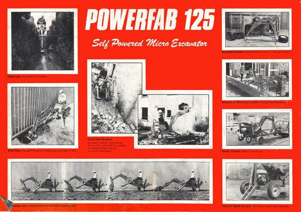 Powerfab 125 towable digger