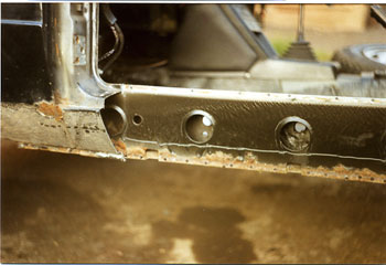 Corrosion within the cars sills